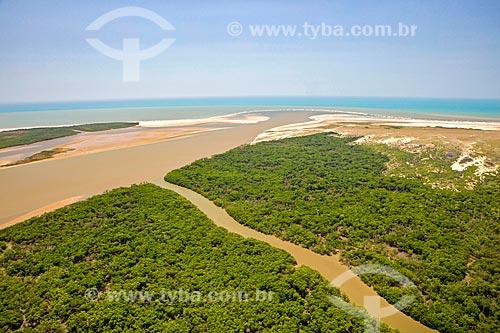 Foz do Rio Parnaíba - Delta do Parnaíba - Divisa natural entre os Estados do Maranhão e Piauí  - Ilha Grande - Piauí (PI) - Brasil