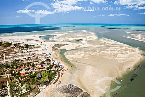 Praia de Macapá e a Foz do Rio Camurupim  - Luís Correia - Piauí (PI) - Brasil