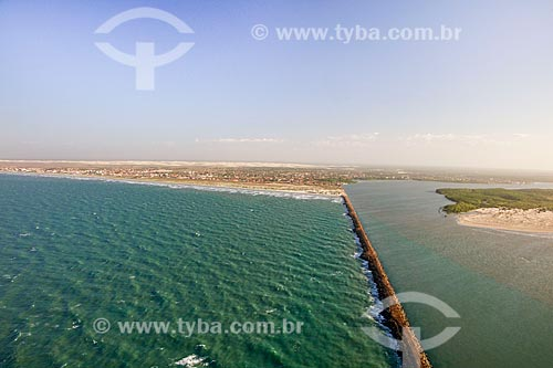 Quebra Mar na Foz do Rio Igaraçu  - Luís Correia - Piauí (PI) - Brasil