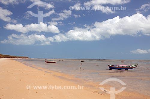 Barcos de pesca na Barra do Timonha  - Cajueiro da Praia - Piauí (PI) - Brasil