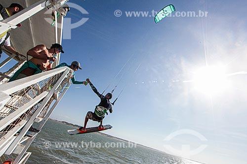 Kitesurf na Foz do Rio Parnaíba - Delta do Parnaíba - Divisa natural entre os Estados do Maranhão e Piauí  - Ilha Grande - Piauí (PI) - Brasil