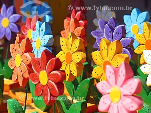 Flores artesanais  - Canela - Rio Grande do Sul (RS) - Brasil