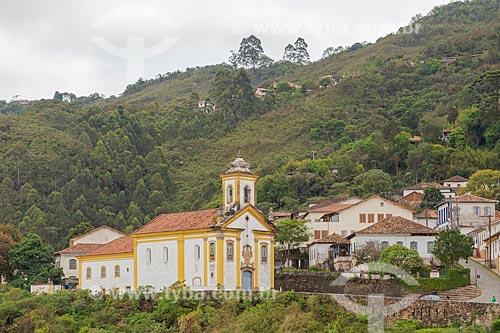 Vista da Igreja São Francisco de Paula  - Ouro Preto - Minas Gerais (MG) - Brasil