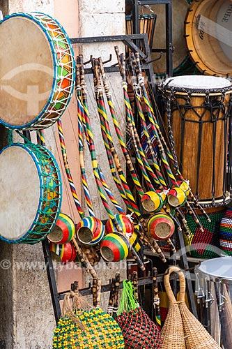 Instrumentos musicais à venda no Pelourinho  - Salvador - Bahia (BA) - Brasil