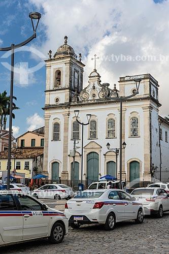 Fachada da Igreja de São Pedro dos Clérigos (século XVIII) no Terreiro de Jesus - também conhecido como Praça 15 de Novembro  - Salvador - Bahia (BA) - Brasil