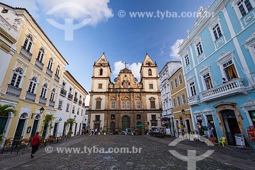 Fachada do Convento e Igreja de São Francisco (Século XVIII)  - Salvador - Bahia (BA) - Brasil