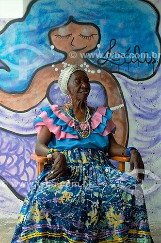 Lia de Itamaracá no Centro Cultural Estrela de Lia  - Ilha de Itamaracá - Pernambuco (PE) - Brasil