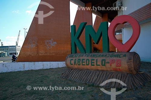 Marco do início da Rodovia Transamazônica (BR-230)  - Cabedelo - Paraíba (PB) - Brasil