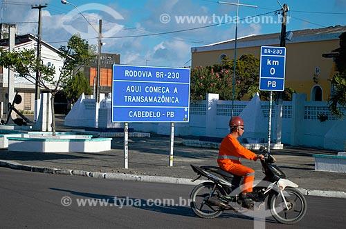 Início da Rodovia Transamazônica (BR-230)  - Cabedelo - Paraíba (PB) - Brasil