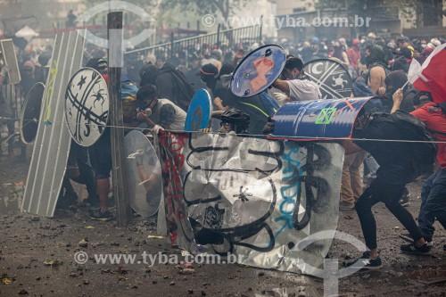 Manifestações contra o governo do presidente Sebastián Piñera, a desigualdade social e a repressão - Santiago - Província de Santiago - Chile