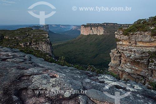 Vista à partir do Morro do Pai Inácio - Parque Nacional da Chapada Diamantina  - Palmeiras - Bahia (BA) - Brasil