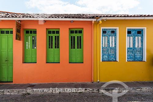 Fachada de casas coloridas  - Lençóis - Bahia (BA) - Brasil