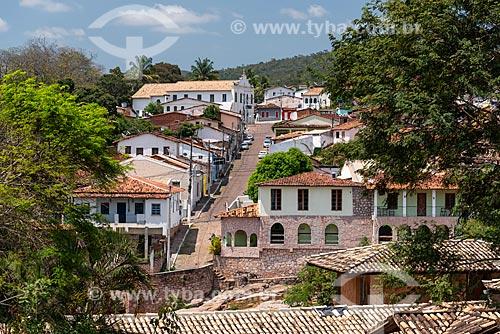 Vista da Rua Armando Pereira com Igreja do Rosário ao fundo  - Lençóis - Bahia (BA) - Brasil
