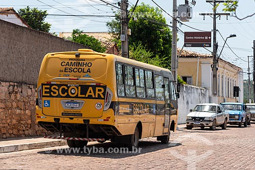 Ônibus escolar  - Lençóis - Bahia (BA) - Brasil
