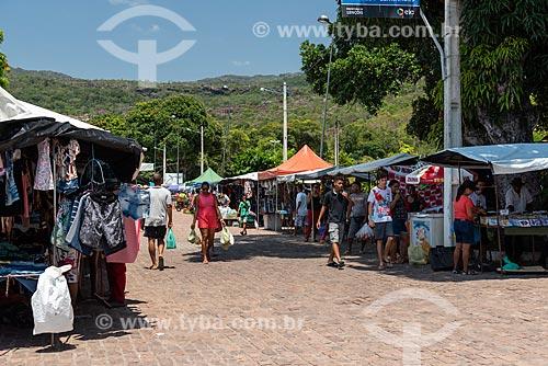 Feira em rua de Lençóis  - Lençóis - Bahia (BA) - Brasil