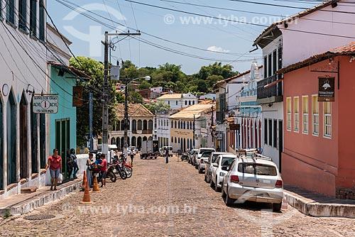 Rua com casas coloridas  - Lençóis - Bahia (BA) - Brasil