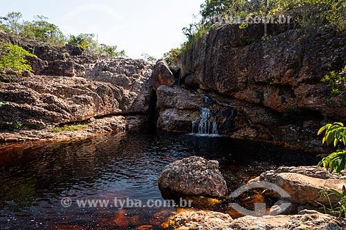 Poço Paraíso (Piscina Natural) - Parque Municipal da Muritiba (Serrano)  - Lençóis - Bahia (BA) - Brasil