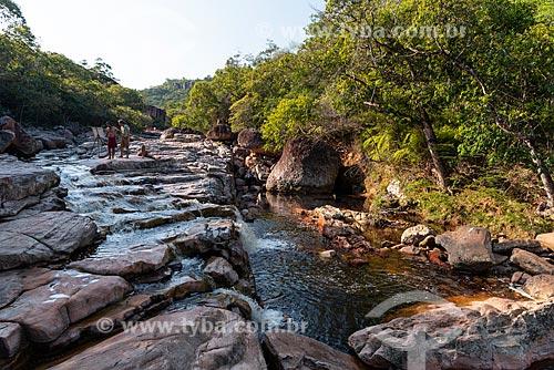 Poço Halley (Piscina Natural) - Parque Municipal da Muritiba (Serrano)  - Lençóis - Bahia (BA) - Brasil