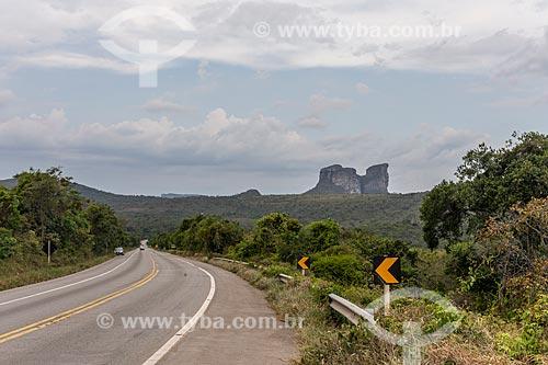 Vista do Morro do Camelo à partir da rodovia BR-242  - Palmeiras - Bahia (BA) - Brasil