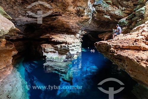 Turistas no Poço Azul  - Nova Redenção - Bahia (BA) - Brasil