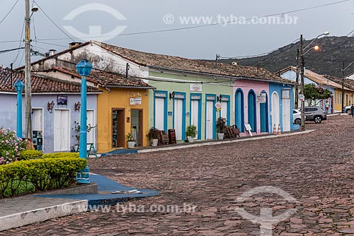 Casas em estilo colonial em rua de Mucugê  - Mucugê - Bahia (BA) - Brasil