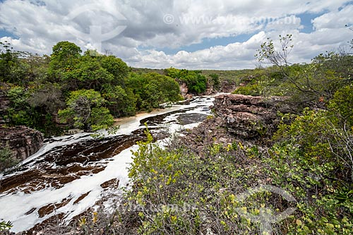 Rio Espalhado na trilha para a Cachoeira do Buracão  - Ibicoara - Bahia (BA) - Brasil