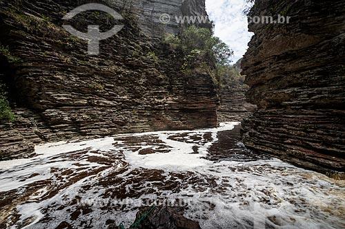 Cânion na Cachoeira do Buracão  - Ibicoara - Bahia (BA) - Brasil
