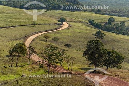 Estrada de terra na Chapada Diamantina  - Ibicoara - Bahia (BA) - Brasil