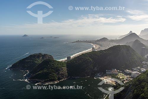 Vista da Praia Vermelha a partir do mirante do Morro da Urca  - Rio de Janeiro - Rio de Janeiro (RJ) - Brasil