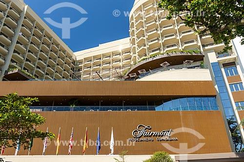 Fachada do Hotel Fairmont Rio de Janeiro Copacabana  - Rio de Janeiro - Rio de Janeiro (RJ) - Brasil