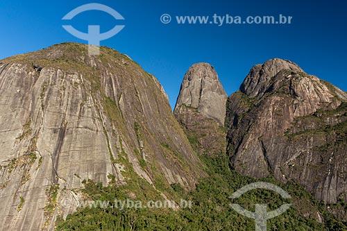 Vista do Pico Caixa de Fósforo no Parque Estadual dos Três Picos  - Teresópolis - Rio de Janeiro (RJ) - Brasil