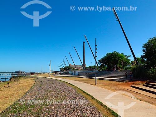 Nova Orla do Guaíba com Centro Cultural Usina do Gasômetro (1928)  - Porto Alegre - Rio Grande do Sul (RS) - Brasil