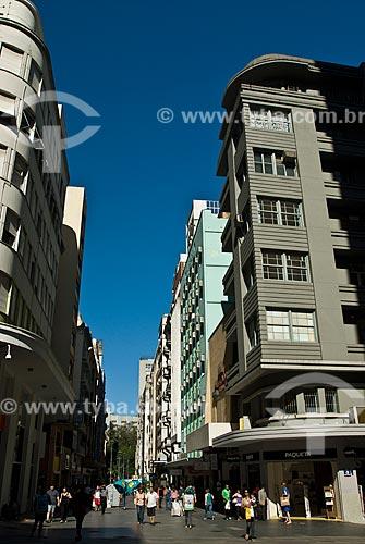 Rua da Praia - oficialmente Rua dos Andradas  - Porto Alegre - Rio Grande do Sul (RS) - Brasil