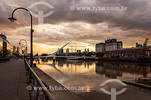 Orla de Puerto Madero ao pôr do sol  - Buenos Aires - Província de Buenos Aires - Argentina