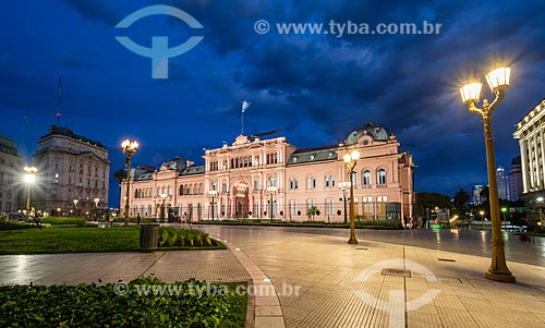 Casa Rosada (1898) - também conhecida como Casa de Gobierno é a sede do governo da Argentina  - Buenos Aires - Província de Buenos Aires - Argentina