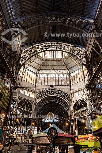 Interior do mercado de San Telmo (1897)  - Buenos Aires - Província de Buenos Aires - Argentina