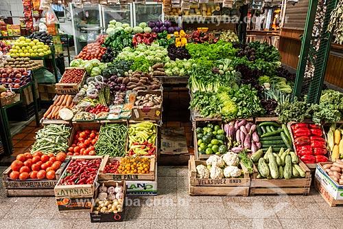 Verduras e legumes à venda no mercado de San Telmo (1897)  - Buenos Aires - Província de Buenos Aires - Argentina