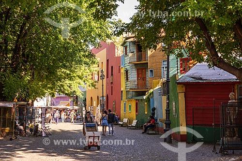 Casas coloridas em Caminito  - Buenos Aires - Província de Buenos Aires - Argentina