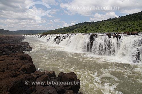 Salto do Yucumã no Rio Uruguai, maior cachoeira longitudinal do mundo  - Derrubadas - Rio Grande do Sul (RS) - Brasil