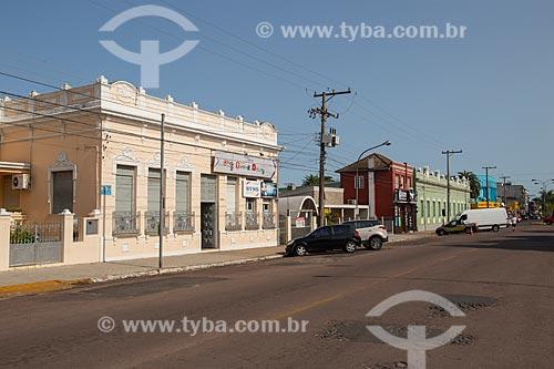 Rua com casario histórico  - Rosário do Sul - Rio Grande do Sul (RS) - Brasil