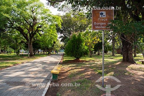 Praça Borges de Medeiros  - Rosário do Sul - Rio Grande do Sul (RS) - Brasil