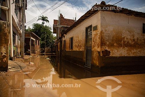 Estragos causados pela cheia do Rio Carangola  - Natividade - Rio de Janeiro (RJ) - Brasil