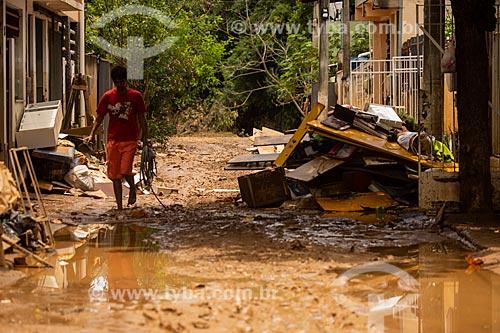Estragos causados pela cheia do Rio Carangola  - Porciúncula - Rio de Janeiro (RJ) - Brasil