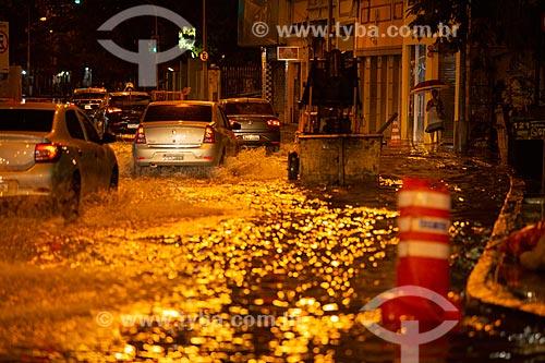 Rua do Catete alagada depois de forte temporal  - Rio de Janeiro - Rio de Janeiro (RJ) - Brasil