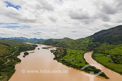 Vista do Rio Paraíba do Sul  - São Fidélis - Rio de Janeiro (RJ) - Brasil
