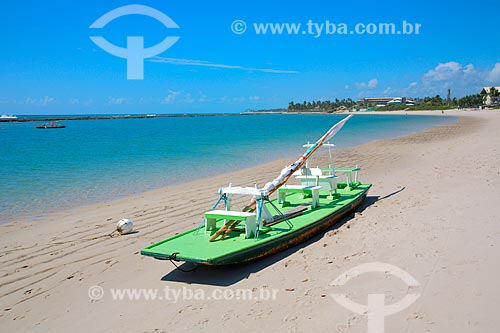 Jangada na Praia de Muro Alto  - Ipojuca - Pernambuco (PE) - Brasil
