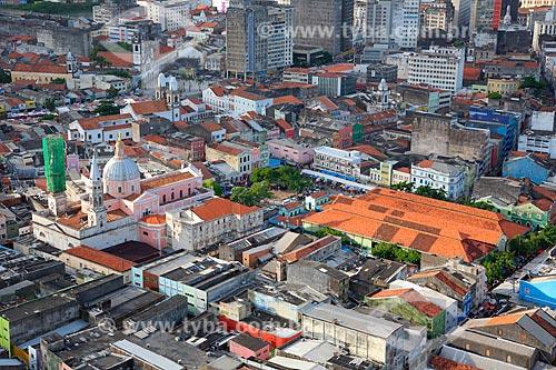 Foto aérea do bairro de Santo Antônio  - Recife - Pernambuco (PE) - Brasil