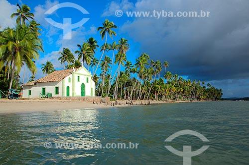 Capela de São Benedito (1910) na Praia dos Carneiros  - Tamandaré - Pernambuco (PE) - Brasil