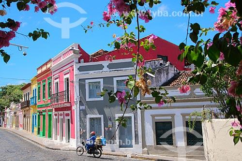Fachada de casarios na Rua de São Bento  - Olinda - Pernambuco (PE) - Brasil