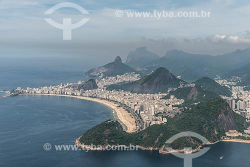 Vista aérea da Praia de Copacabana  - Rio de Janeiro - Rio de Janeiro (RJ) - Brasil